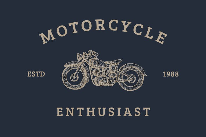 Thumbnail for Motorcycle Logo - Vintage