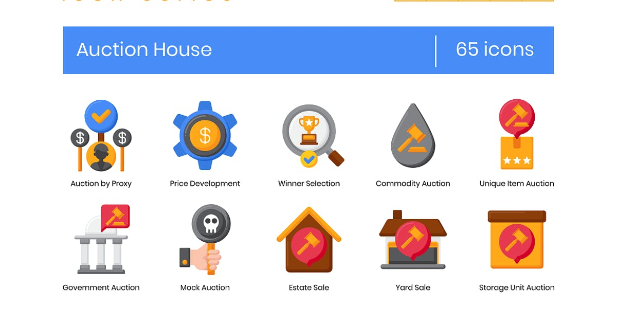 Download 65 Auction House Icons - Rich Series by Krafted
