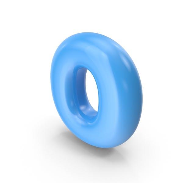 Blue Toon Balloon Letter O