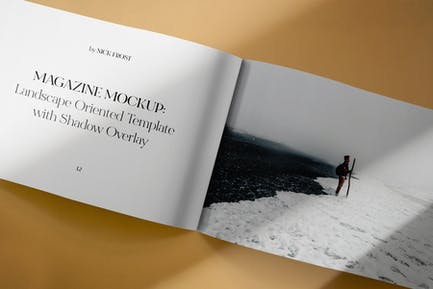Landscape Magazine Spread Mockup