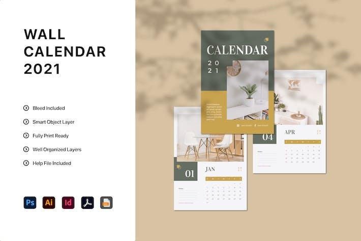 Thumbnail for Minimalist Calendar 2021