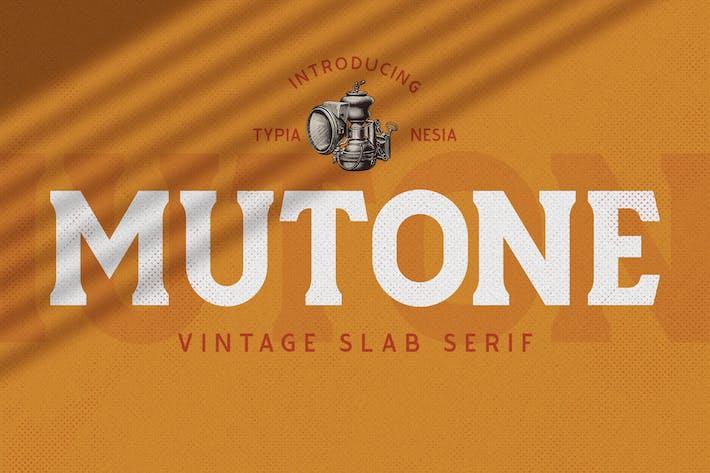Thumbnail for Mutone - Vintage Slab Serif