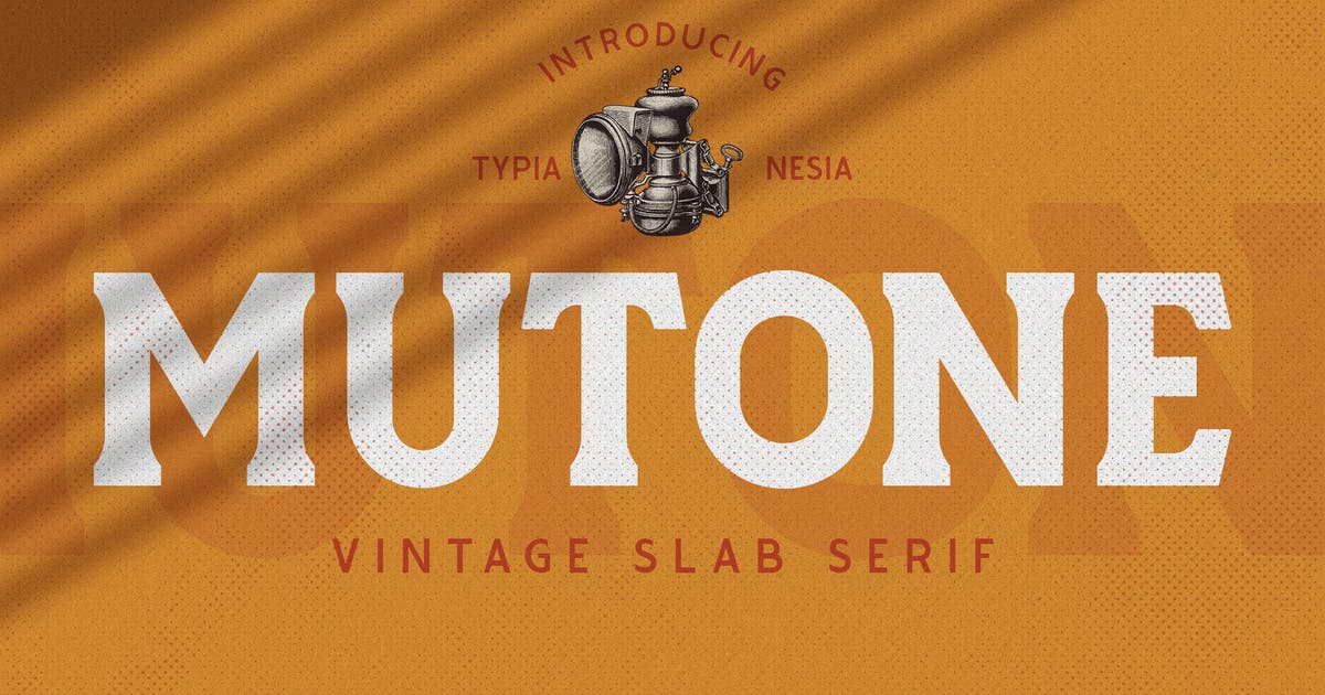 Download Mutone - Vintage Slab Serif by yipianesia