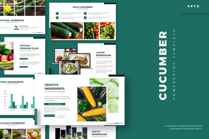 Cover Image For Cucumber - Powerpoint Template