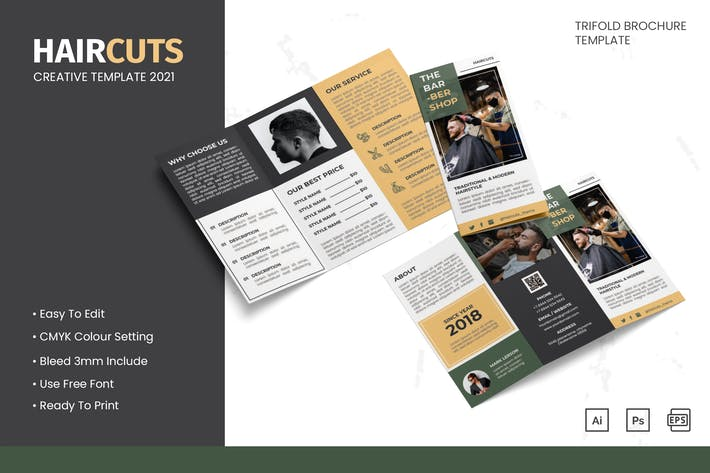 Haircuts - Trifold Brochure