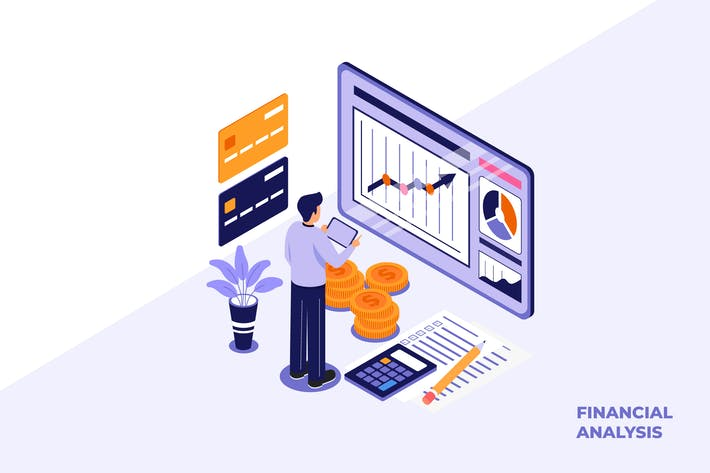 Thumbnail for Financial Analysis - Ilustration Template