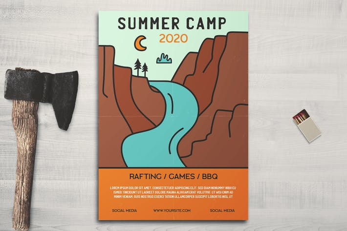 Summer Mountain Camp Flyer