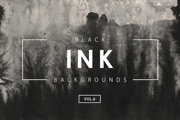 Black Ink Backgrounds Vol.6