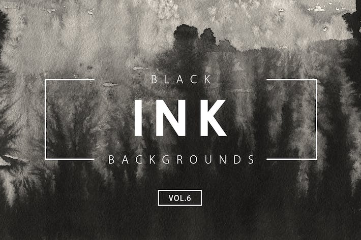 Cover Image For Black Ink Backgrounds Vol.6