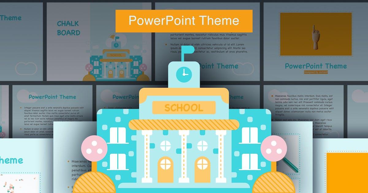 Download Chalkboard PowerPoint Template by Jumsoft