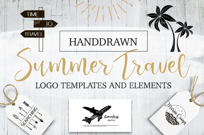 Cover Image For Summer&Travel Logo Templates