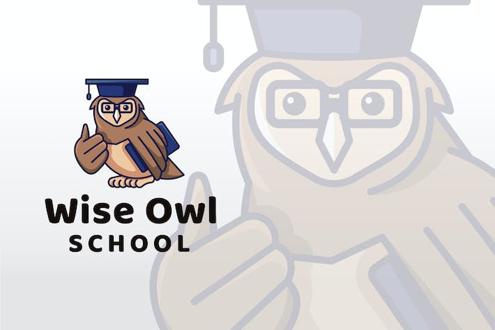 Thumbnail for Wise Owl School Logo Template