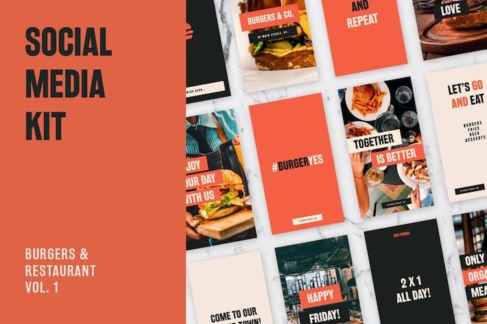 Thumbnail for Burgers and Restaurant Social Media Kit