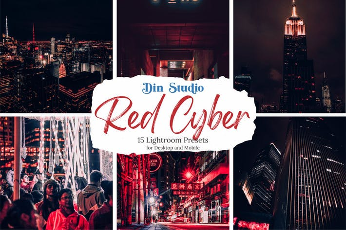 Red Cyber Lightroom Presets