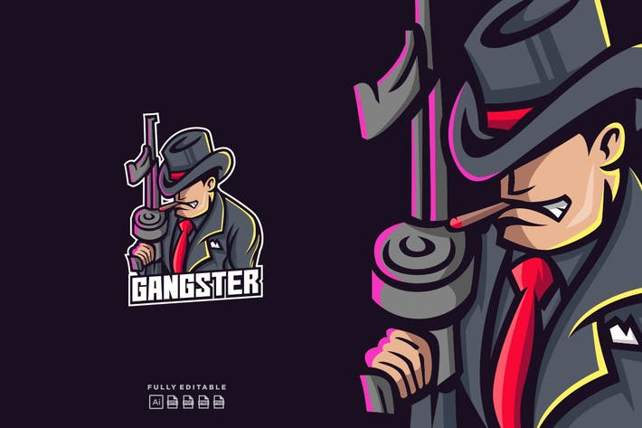 Thumbnail for Boss Mafia Gangster Logo