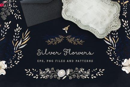Silber Blumen