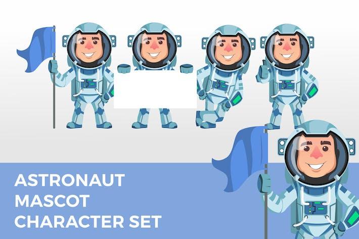 Astronaut Maskottchen Zeichensatz