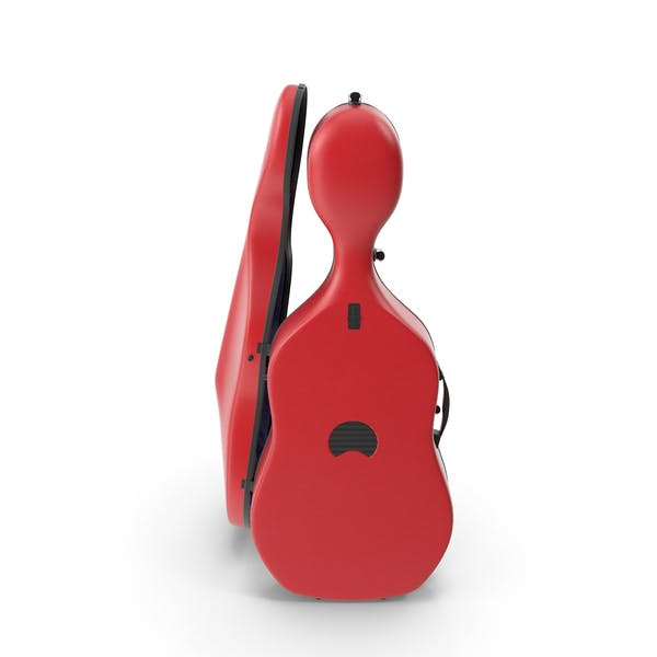 Cello Red Shell Case