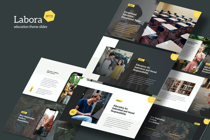 Labora - Education Theme Powerpoint Template
