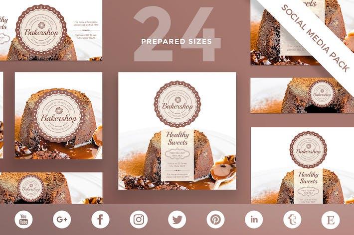 Thumbnail for Baker Shop Social Media Pack Template