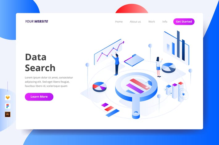 Thumbnail for Data Search - Landing Page
