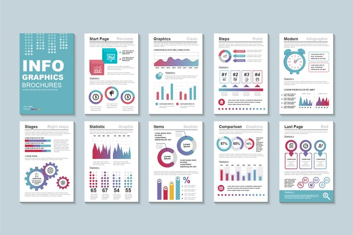 Thumbnail for Presentation Infographic Brochure Template