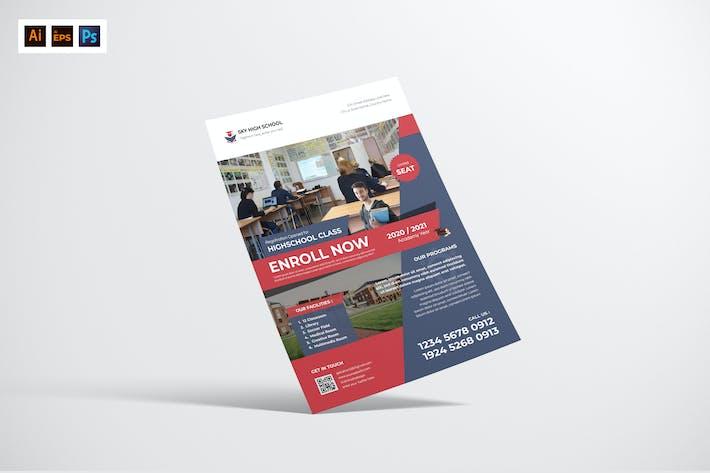 Thumbnail for EintrittsFlyer für Schule Design