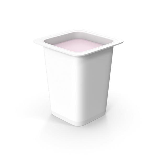 Taza de yogur sin tapa