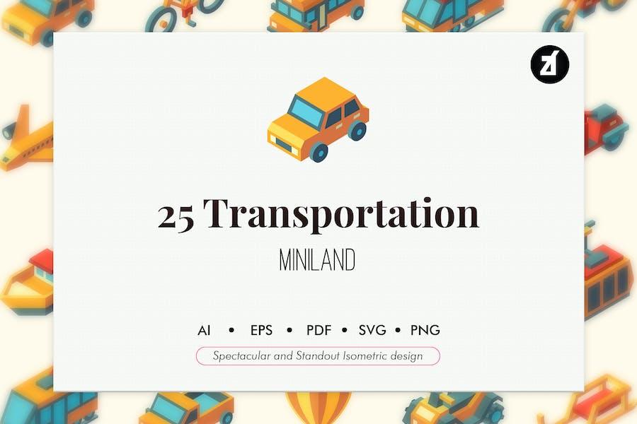 25 Transportation isometric elements