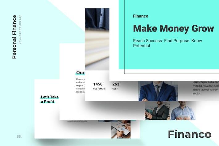 Financo - Шаблоны Keynote финансового советника