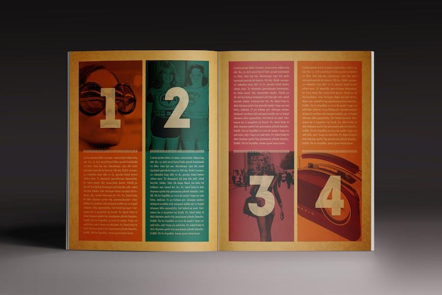 The Retro Magazine Indesign Template