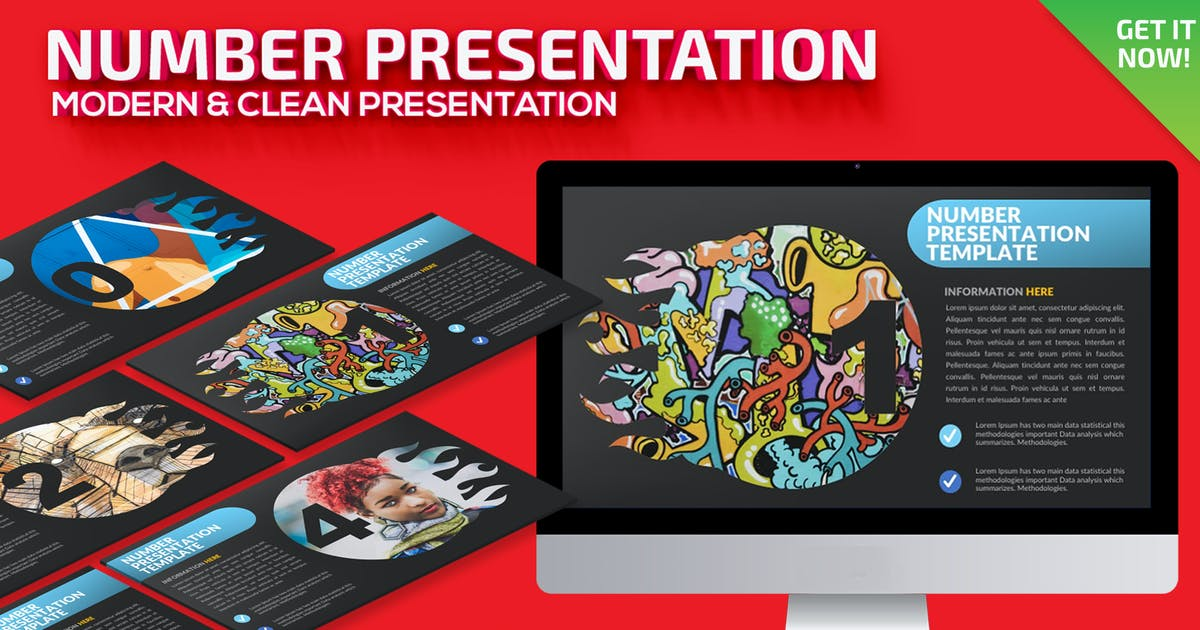 Download Number Keynote Presentation Template by mamanamsai