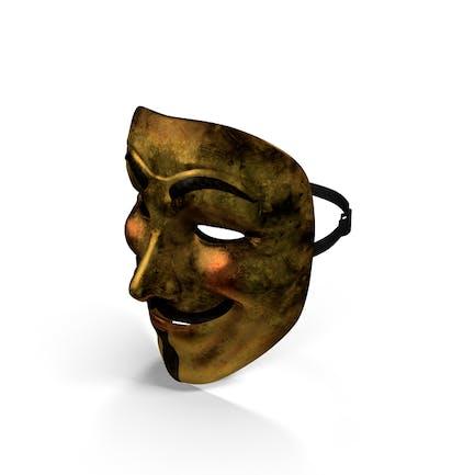 Golden Guy Fawkes Maske