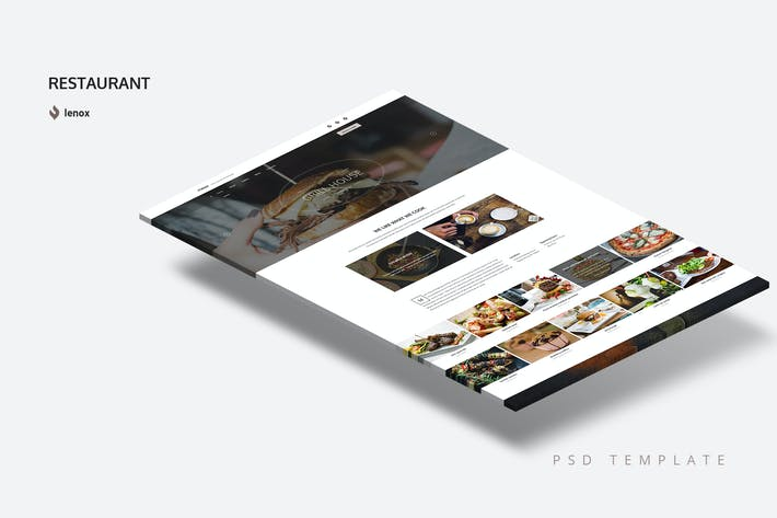 Thumbnail for One Page Restaurant PSD Template