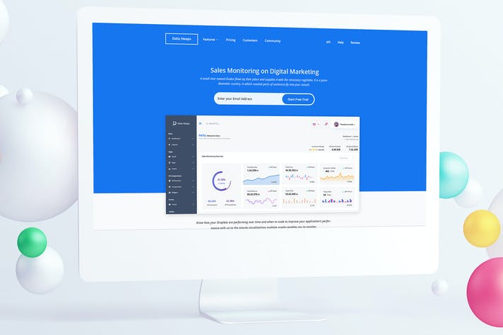 Thumbnail for Sales Monitoring Landing Page PSD Template