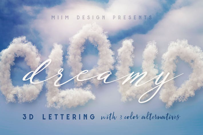 Thumbnail for Clouds – 3D Lettering