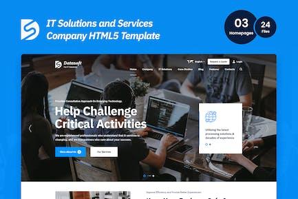 Datasoft - HTML5-Vorlage für IT-Lösungen und -Dienstleistungen