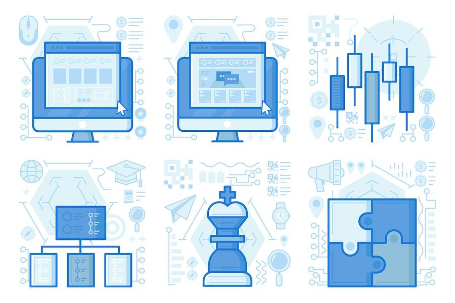 Conversation Website UI UX Illustrations