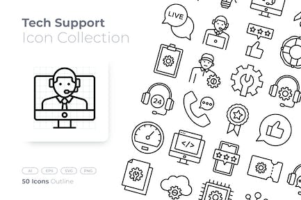 Tech Support Outline Icon