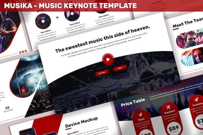 Thumbnail for Musika - Music Keynote Template