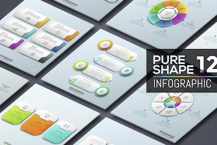 Pure Shape Infographic. Part 12