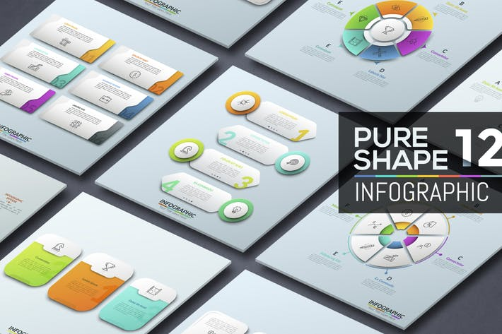 Thumbnail for Pure Shape Infographic. Part 12