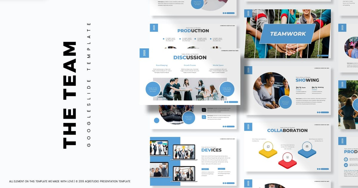 Download The Team - Google Slide Template by aqrstudio