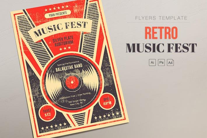 Thumbnail for Retro Music Fest - Vinyl Flyers