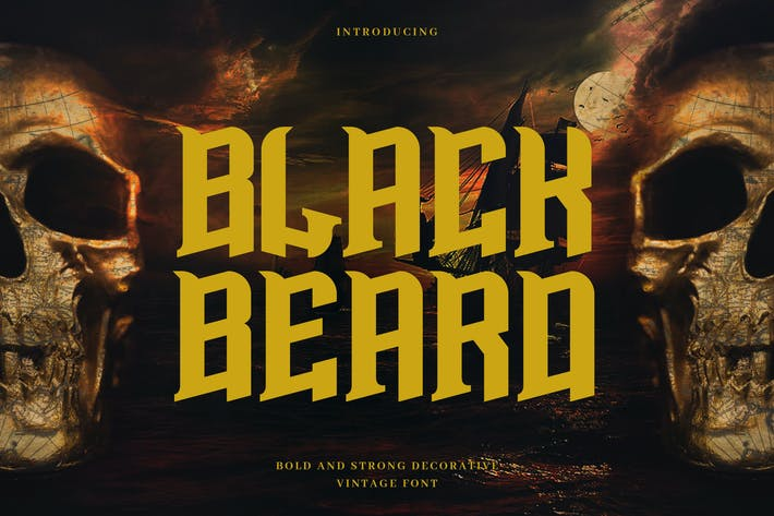 Cover Image For Blackbeard - Vintage Bold Display Typeface