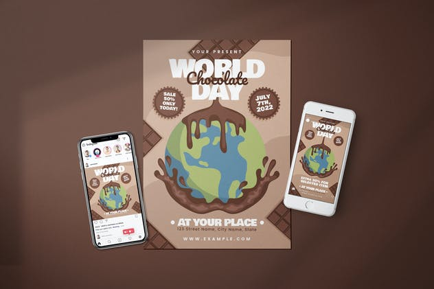 World Chocolate Day - Flyer Media Kit