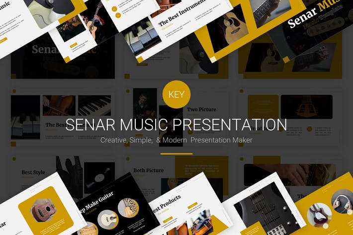 Thumbnail for Senar Music - Шаблон Keynote