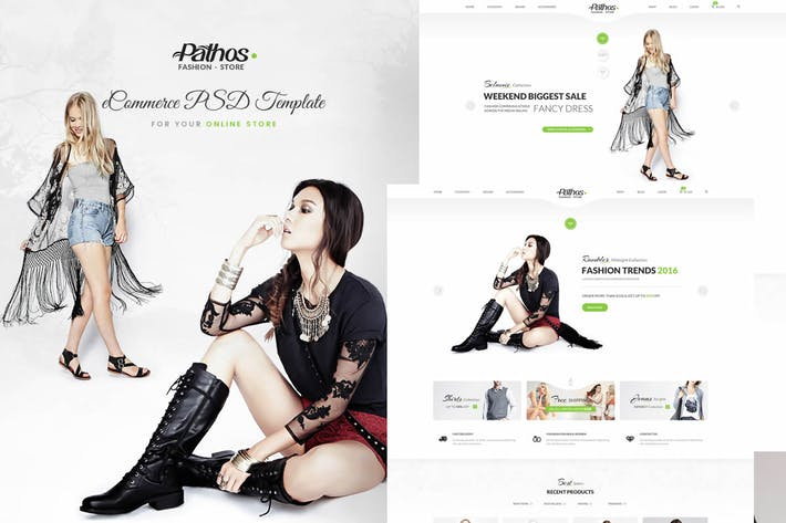 Thumbnail for Pathos - E Commerce PSD Template