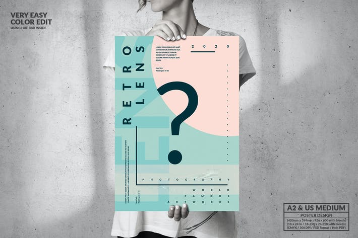 Question Art Event - Big Poster Design