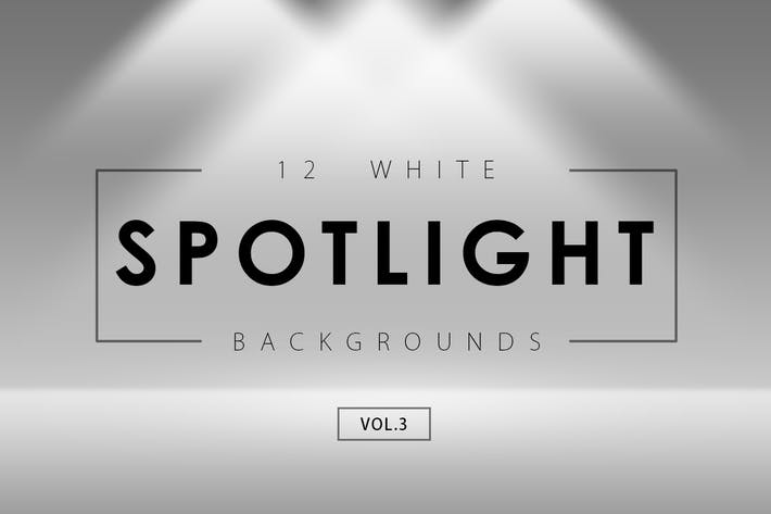 Thumbnail for 12 White Spotlight Backgrounds 3
